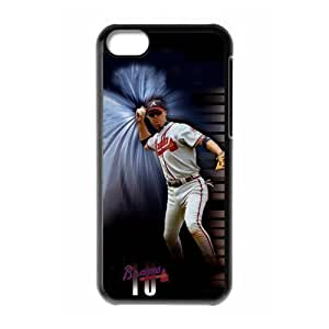 Custom Atlanta Braves New Back Cover Case for iPhone 5C CLR448 Kimberly Kurzendoerfer