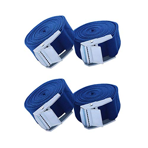 - Tie Down Straps,4 Pack 6.5 Ft Adjustable Ratchet Tie Down Straps Lashing Strap Cargo Straps with Cambuckle for Motorcycle,Automotive,Boat Trailer,Kayak,Trucks,Luggage,Blue