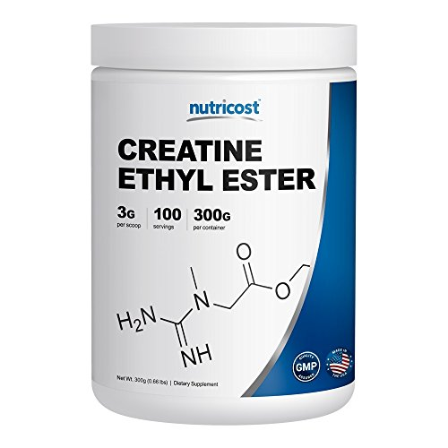 Nutricost Pure Creatine Ethyl Ester Powder (CEE) 300 Grams - Rapid Absorption Creatine - 3g Per Serving - 100 Serv