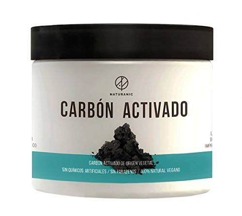 Naturanic - CARBÓN VEGETAL ACTIVADO 100% NATURAL - grado alimenticio, para blanquear dientes, utilizar en bebidas y preparar...