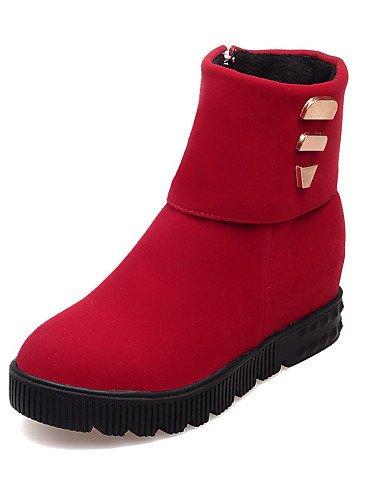 Botines Xzz 5 Vestido Eu42 Cn43 us8 Mujer Red 5 Uk6 us10 Rojo Botas Sintético De Azul Eu39 Uk8 Redonda Negro Cn40 Zapatos Ante Blue Punta Plataforma 5 5 8rRrxInF