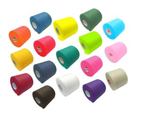 Mixed Colors Bulk Prewrap for Athletic Tape - 12 Rolls, Rainbow by IthacaSports (Soccer Pre Wrap)