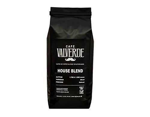 CAFÉ VALVERDE HOUSE BLEND - ECUADORIAN COFFEE - EXTREMELY STRONG COFFEE - DARK ROAST - (HALF KILO 17,63 OZ.) - HIGH ALTITUDE COFFEE - DIRECT TRADE