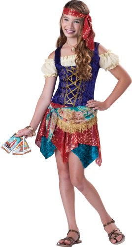InCharacter Costumes Women's Gypsy's Spell Costume, Tan/Multi, Small
