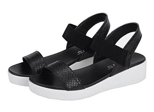 2017 nuevos talones del verano en las sandalias planas elásticos de la cintura con los zapatos planos 1