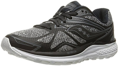 Saucony Women's Ride 9 LR Running Shoe, Grigio/Nero, 39 B(M) EU/6 B(M) UK