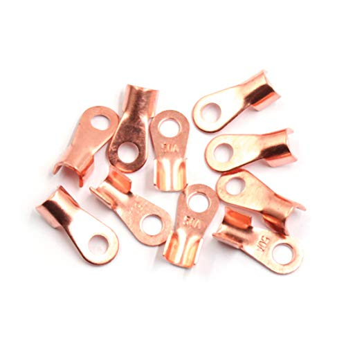 Sourcingmap 10pcs 50A Copper Ring Terminals Lug Battery Cable Connector: