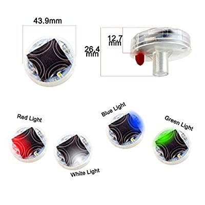 LEADTOPS Car Wheel Tire Light LED, 4-Pack Solar Energy Motion Sensors Flashing Colorful Gas Nozzle LED Tire Schrader Valve Cap Lights Lamp Bulb Waterproof for Car Auto Motorcycles Bicycles: Automotive