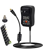 36W Universal Adapter Power Supply 3V 4.5V 5V 6V 7.5V 9V 12V AC DC for LCD LED Light Strip Router Speaker Smart Phone Tablet Kindle and Echo Dot TV Box 0.5A 1A 1.5A 2A 2.5A 3A 3000mA Amp Max.