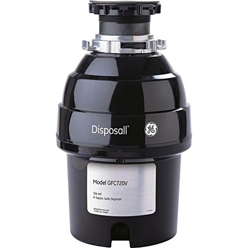 General Electric GFC720V Continuous Feed Disposall, Super capacity, 3/4 horsepower, Black