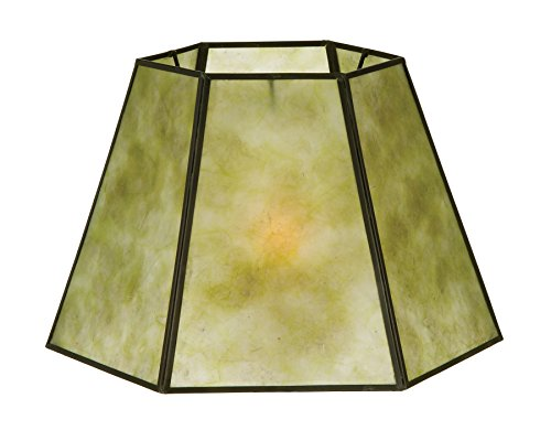 B&P Lamp Hexagon Style Mica Lampshade by B&P Lamp