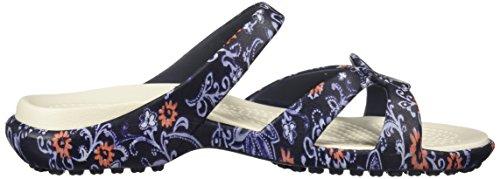 Crocs Kvinders Meleen Twist Grafisk Flad Sandal Marine / Blomster 564v7z5Iq