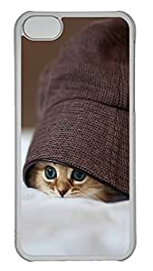 iPhone 5C Case Cute Kittens Hats Eye PC iPhone 5C Case Cover Transparent