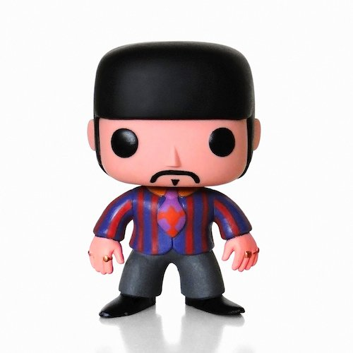 Pop! Rock PDF00004370 - Ringo Starr de The Beatles Yellow Submarine, Figura de 10 cm (Funko FUNWWBH2694) - Figura Head Pop Ringo S
