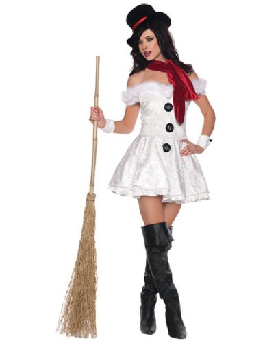 Olaf Snowman Costume (Underwraps Costumes  Women's Snow'd In, White/Black/Red, Medium)