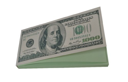 Dollar Notepad - $1000 Dollar Novelty Writing Note Pad