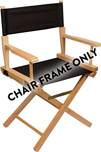 24'' Wood Frame Director Chair Body by Trademark Innovations (Light Wood) by Trademark Innovations
