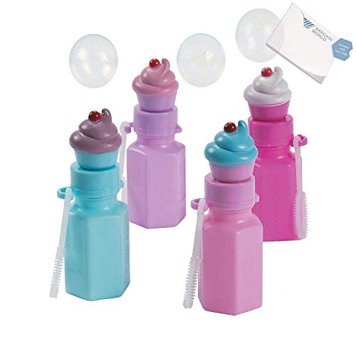 Bargain World Cupcake Bubble Bottles (With Sticky Notes) by Bargain World (Image #3)