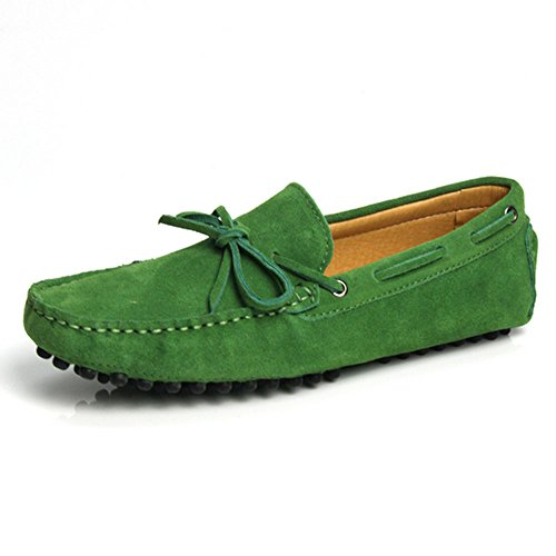 Mocassino In Pelle Scamosciata Da Uomo Mocassino Slip On Mocassini Scarpe Casual Driving Shoes Green