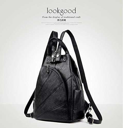 nero con Multifunzione Hydyi donna Anti 25x13x31cm morbida Borsa Backpack Theft Tote per Small Pelliccia Lady busta Nero gWT46pA
