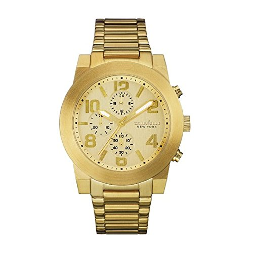 Caravelle New York Men's Quartz Stainless Steel Casual Watch, Color:Gold-Toned (Model: 44A105)