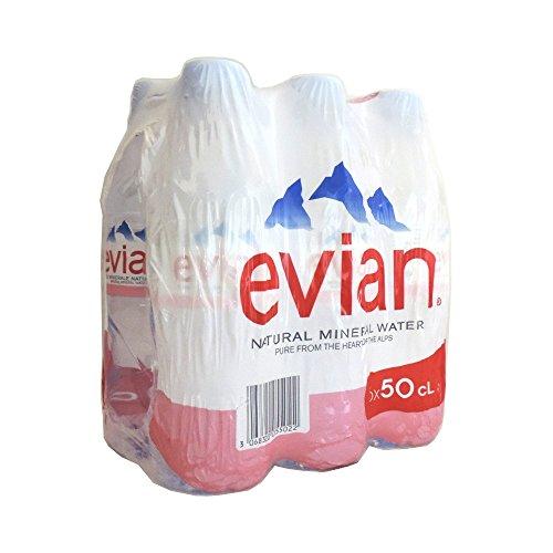 (Evian Still Mineral Water 6 x 500ml)
