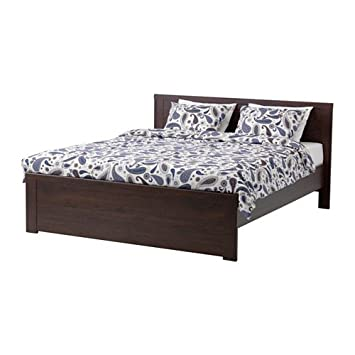 Amazon Com Ikea Queen Size Bed Frame Brown Luroy 10202 22317 2626