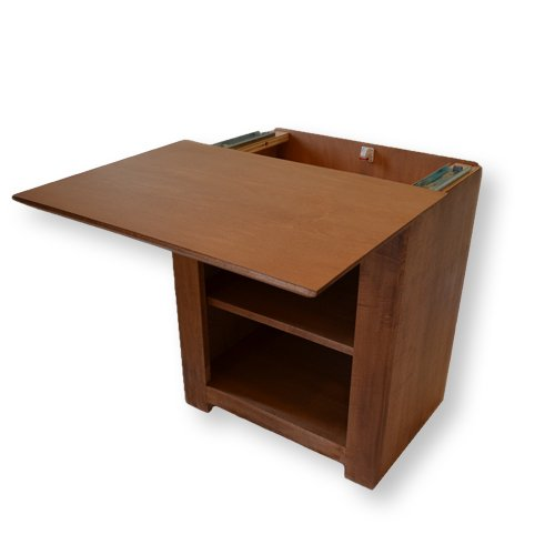 3. Secret Compartment Nightstand (Diversion Safe) with Magnetic Lock & Key (Autumn Stain)