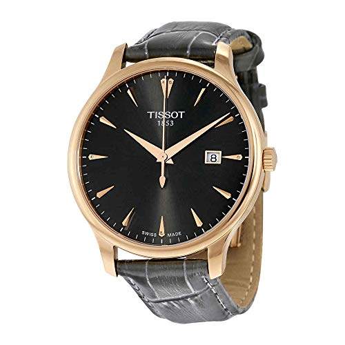 Tissot Women's 'Tradition' Swiss Quartz Gold and Leather Watch, Color:Grey (Model: T0636103608600) ()