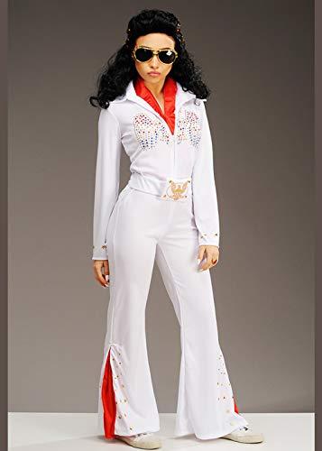 Struts Disfraz de Elvis Blanco para Mujer Talla pequeña años 50 ...