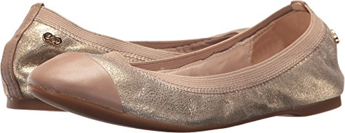 Cole Haan Women's Elbridge Ballet II Maple Sugar Metallic Suede/Maple Sugar Leather 10 B US