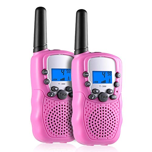 Toys for 3-12 Year Old Boys, Teen Girl Gifts, Selieve Walkie Talkies for Kids Teen Boy Gifts Birthday (Pink, 1 Pair) (Best Birthday Gift For 18 Year Girl)