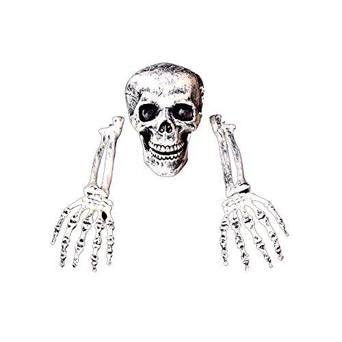 Garden Yard Lawn Decoration Horror Buried Alive Skeleton Skulls (Homemade Halloween Costumes Face Paint)