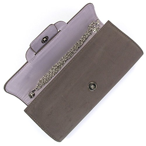Bridal Wedding Accessories.co.uk, Borsa baguette donna Grigio grigio