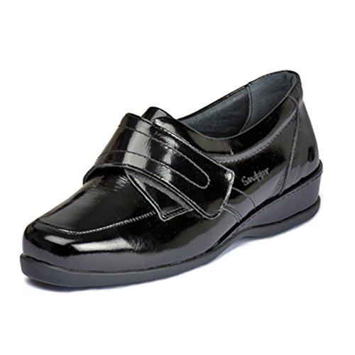 Pour Ville À Chaussures Verni Noir De Lacets Sandpiper Femme wPEXUxq