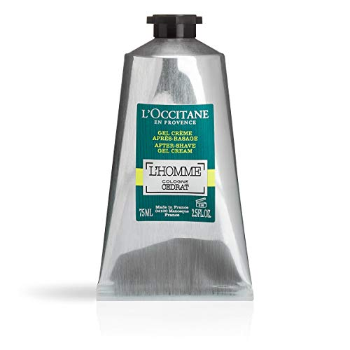 L'Occitane Zesty & Aquatic L'homme Cologne Cedrat Gel-Cream After-shave, 2.5 Fl. oz.