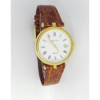 Uhr Damen Ma718 Quarz (Batterie) Gold Quandrante weiß Armband Leder