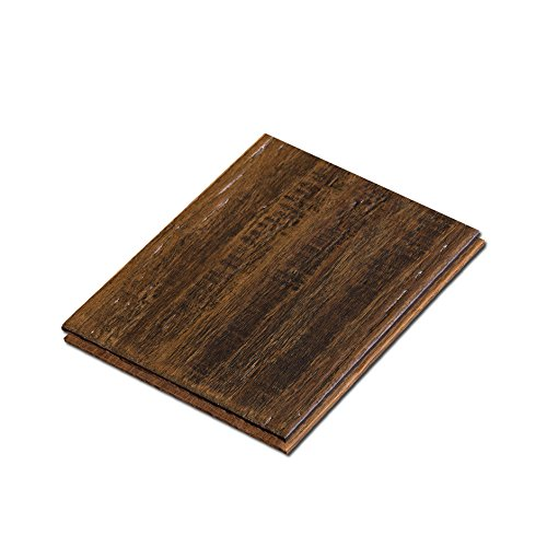 "Cali Bamboo - Solid Wide T&G Bamboo Flooring, Dark Brown Vintage Port, Heavy Distressed - Sample Size 8"" L x 5 3/8"" W x 9/16"" H"