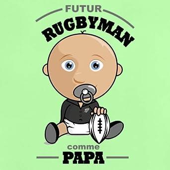Fils Futur Rugbyman comme Papa T-Shirt B/éb/é