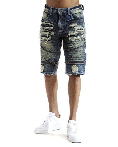Zipper Closure Pockets Denim - 6