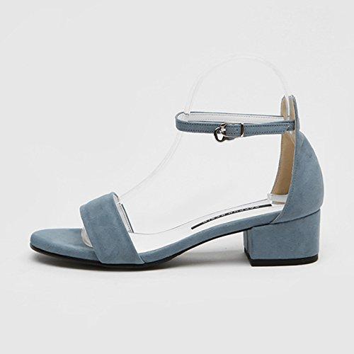 De azul4CM GAOLIM Talón Zapatos Zapatos Verano El El Tacón Para En Verano El Zapatos El El Alto Con Mujer Mujeres Verbo Alto Estudiantes Sandalias De De Y rr7wFgHq