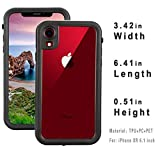 FXXXLTF Case for iPhone XR, Full-Body Protective Slim Case with Built-in Screen Protector Waterproof Shockproof Snowproof Clear Cover Case for iPhone XR (6.1 Inch)
