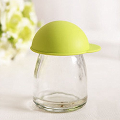 Anshinto Cute Silicone Anti-dust Glass Cup Cover Coffee Mug Suction Seal Lid Cap (Green)