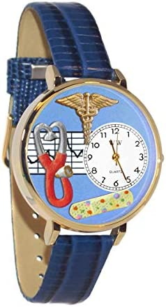Whimsical Watches Unisex U0630007 Dog Groomer Pink Leather Watch