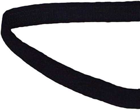 Porcelynne Black Nylon Bra Underwire Plush Back Casing Channeling 5 Yards