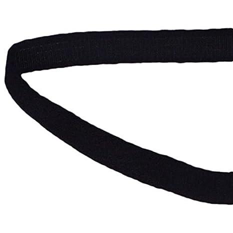 Porcelynne Black Nylon Bra Underwire Plush Back Casing Channeling - 1 Yard