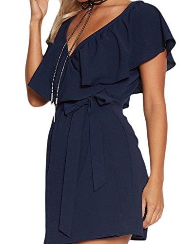 YOINS YOINS YOINS Donna Vestito Donna Vestito Blu Blu Vestito O5qnagw