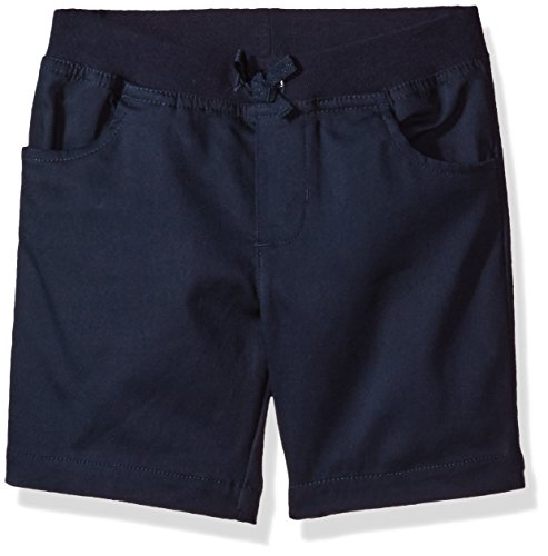 Cotton Pull On Shorts (French Toast Big Girls' Pull-on Tie-Front Short, Navy, 14)