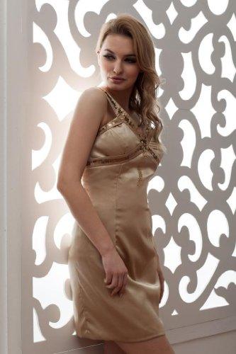 Perlen Gurte Braun mit Abendkleid GEORGE BRIDE Kurz w4xWIqcyfv