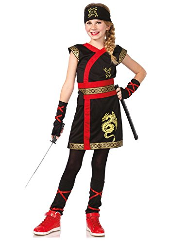 [Leg Avenue Children's Ninja Warrior Costume] (Ninja Dragon Costumes)
